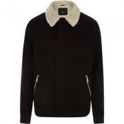 River Island Black borg collar jacket