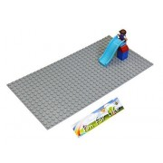 Lego-Duplo big dot Compatible Brick Building Base 20 x 10 Silver Gray Baseplate - by Fun For Life