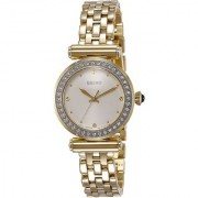 Seiko Gold Stainless Steel Round Dial Analog Watch For Women (SRZ468P1)