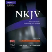 NKJV Wide Margin Reference Bible, Black Edge-lined Goatskin Leather, Red Letter Text NK746:XRME by Cambridge University Press