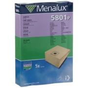 Menalux 5801 P Sacchetti per aspirapolvere, 5 pezzi