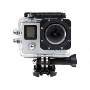 Boblov Pantalla Dual Ultra HD 4 K deportes cámara de acción videocámara impermeable bajo el agua 1080P 170 ° gran angular 12 MP WiFi Slim casco Cam DVR grabadora (plata)