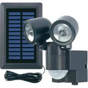 Napelemes LED-es fényszóró mozgásérzékelővel, fekete, GEV (576741)