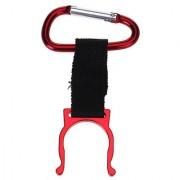 Practical Carrying Water Bottle Holder Carabiner Hook Buckle - Red