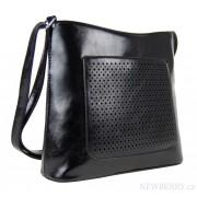 Crossbody pevná kabelka H0425 černá