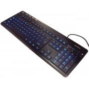 Tastatura A4TECH KD-126-1 X-SLIM Led, USB Blue