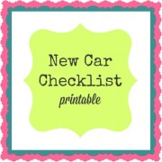 New Car Checklist (printable)