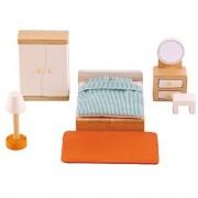 Hape - Master Bedroom Wooden Doll House Furniture