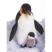 Emperor Penguin with Baby 13 by Fiesta