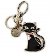 Kulcstartó LIU JO - Key Ring Cat N67110 A0001 Nero 22222