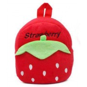 Red Strawberry Style Baby Bag Stuffed Soft Plush Toy