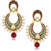 Sukkhi Artistically Gold Plated Australian Diamond Earrings