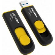 Stick USB A-DATA UV128, 16GB, USB 3.0 (Negru/Galben)