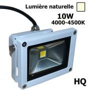Projecteur led 10W Blanc 4500K IP65