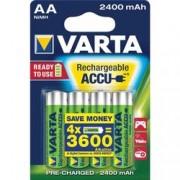 batterie ricaricabile stilo varta - 1,5v - 2400mah - tipo aa - blister