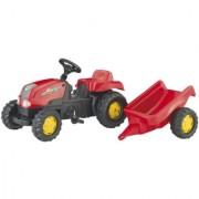 Traktor na pedale sa prikolicom Rolly kid crveni
