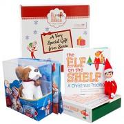 Elf on the Shelf Pet Set - St. Bernard Plush with Blue Eyed Elf Boy - In Box Direct From North Pole