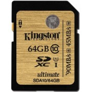 Card memorie Kingston SDXC UHS-I Ultimate 64GB, Clasa 10