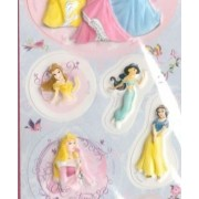 Стикери Обемни 3D - Disney - принцеси