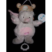 Doudou Musical Peluche Musicale Ours Oursonne Baby Nat' Babynat Gris Rose Note Musique