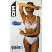 DIM. Reggiseno donna Dim Generous con ferretto e micro rete bianco