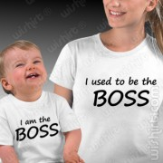 T-shirts Used to be the Boss - Bebé