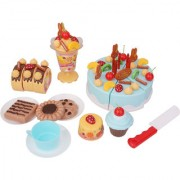 Imported 75Pcs Birthday Cake Set Kids Pretend Toys -Blue