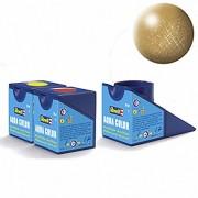 Revell Acrylics (Aqua) - 18ml - Aqua Gold Metallic - RV36194