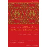 Sources of Japanese Tradition, Abridged by Wm. Theodore de Bary