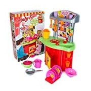Scream Candy and Ken Chef Kitchen Playset with Accessories (Multi-Colour)