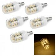 E14 6W 300lm caliente 60 luz blanco SMD 3528 LED bombilla % 285PCS / AC 220V % 29