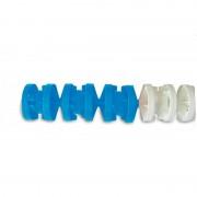 Corcheras Acuáticas Moscú Antiolas 1 metro color azul/blanco con cuerda