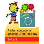 PACHET EDUCATIONAL GRADINITA TIMTIM-TIMY, 3-4 ANI.