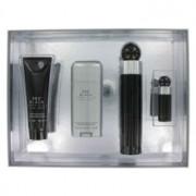 Perry Ellis 360 Black Eau De Toilette Spray + After Shave Balm + Deodorant Stick + Mini EDT Spray Gift Set 456636