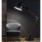 LUMZ Verstelbare vloerlamp van metaal en hout