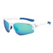 CEBE Ochelari de soare sport unisex Cebe ACROSS MATT WHITE BLUE 1500 GREY FM BLUE + 500 YELLOW