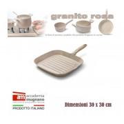 Bistecchiera antiaderente 30 x 30 cm rivestimento Natural Stone effetto pietra Accademia Mugnano Linea GRANITO ROSA