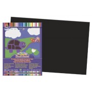 Construction Paper, 58 lbs., 12 x 18, Black, 50 Sheets/Pack
