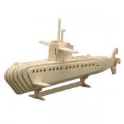 Puzzle eco 3D din lemn Submarin Pebaro