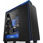 Carcasa NZXT H440 window fara sursa neagra + albastru