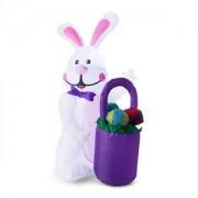ONECONCEPT MR. BUNNY, iepuraș de Paște gonflabil, decorație de Paște, 120cm, suflant, LED-uri (LEH-Mr.Bunny)