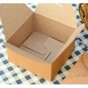 Magideal 12PCS Brown Kraft Paper Gift Boxes Party Wedding Box Square for Craft DIY