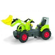 Rolly Toys 710249 - Trattore a Pedali Farmtrac Claas Arion 640 con Ruspa Trac e Ruote Gonfiabili