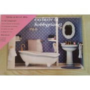 Kit diorama vitrina pentru asamblare - camera de baie