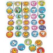 Dental Roll Sticker Assortment 5 Rolls 100 Stickers Per Roll / 500 Total Dentist Stickers Tooth Fairy