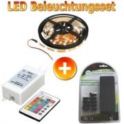 LED Beleuchtungsset 5m Spule mit RGB Controller Fernbedienung