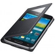 Husa tip carte cu decupaj Samsung EF-CG800BKEGWW S-View Charcoal Black pentru telefonul Samsung Galaxy S5 Mini G800