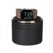 Sena Leather Travel Watch Case - кейс и поставка с възможност за зареждане за Apple Watch (черен)