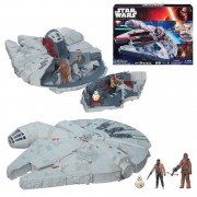 Star Wars The Force Awakens Millennium Falcon With Figures 4 Inch Vehicle