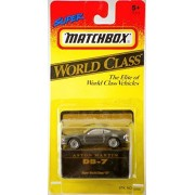 1993 - Tyco Toys Inc - Super Matchbox - World Class Series #37 - Aston Martin DB-7 / Metallic Gray - 1:64 Scale Die Cast Metal - MOC - Out of Production - Limited Edition - Collectible by Matchbox